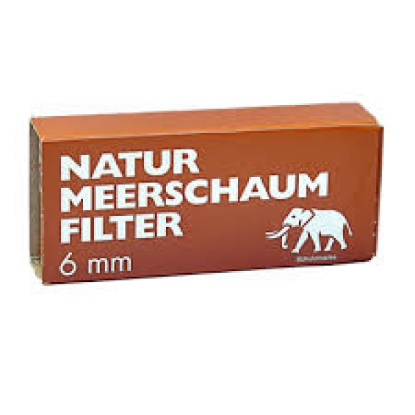 White Elephant Natur Meerschaum Filter 6mm